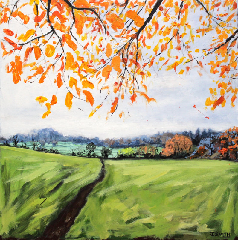 Expressive painting of Boars Hill Oxford by Jack Smith artist. Acrylic on canvas.